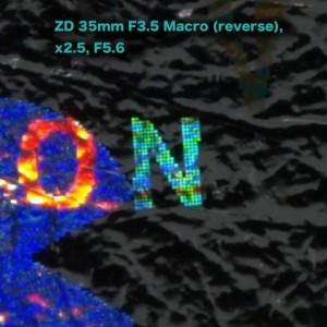 ZD 35mm F3.5 Macro(reverse), 諭吉ホログラムベンチマーク
